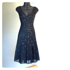 CARMEN MARC VALVO sz 2 formal/semi black dress